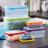 Food Storage Container Set 12 Piece Rectangular Stackable Nesting Graduated Size