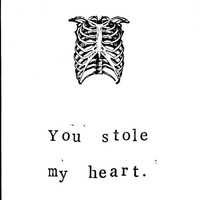 Funny Skeleton Anatomy Valentine Card: Heart