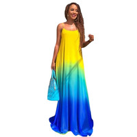 Women Sexy Boho Casual Chiffon Evening Party Beach Long Maxi Dress SM6