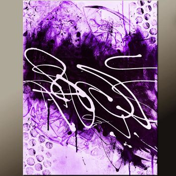Abstract Canvas Art Print Contemporary Abstract Art by Destiny Womack - My Story IIII - dWo