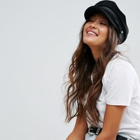 ASOS High Crown Wool Baker Boy Hat at asos.com