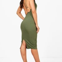 Beca Strappy Low Back Ring Detail Midi Dress | Boohoo
