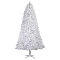 7.5 ft. Pre-Lit Iridescent White Alberta Spruce Artificial Christmas Tree- Clear Lights