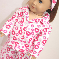 American Girl Doll Clothes  Valentine's Day Print by alldolldup