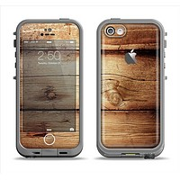 The Old Bolted Wooden Planks Apple iPhone 5c LifeProof Fre Case Skin Set