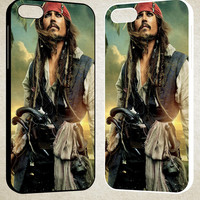 Captain Jack Sparrow F0344 iPhone 4S 5S 5C 6 6Plus, iPod 4 5, LG G2 G3, Sony Z2 Case
