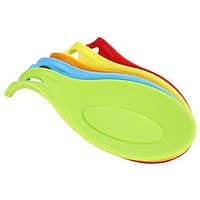 2015 New Arrival Silicone Heat Resistant Spoon Fork Mat Rest Utensil Spatula Holder Kitchen Tool 8C8S