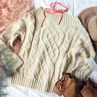 Cozy Cable Sweater in Cream