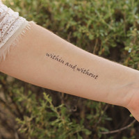 """The Great Gatsby """"Within and Without"""" Temporary Tattoo"""