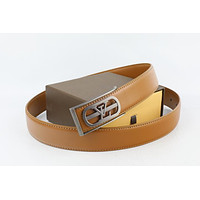 Louis Vuitton Woman Men Fashion Smooth Buckle Belt Leather Belt Skin Belts LV Beltt475