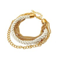 Silky Ropes and Chains Bracelet in Ivory For Woman