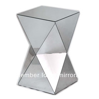 MR-401001  modern mirror pedestal, side table, small table furniture