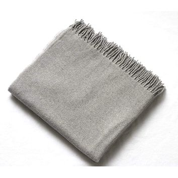 Harlow Henry Cashmere Collection Throw Grey