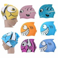 New Silicone Kids Children Cap Hat Fish Print  Hat cartoon cap cute