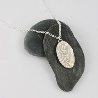 Silver swirls pendant - sterling silver, texture, natural design, swirls, ocean, one of a kind, unique, handmade, artisan