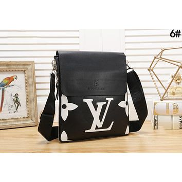 LV Louis Vuitton Newest Fashion Women Men Leather Office Bag Shoulder Bag Crossbody Satchel 6#
