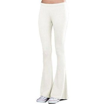 Womens French Terry Bell Bottom Yoga Pants - Made in USA