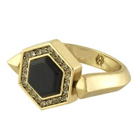 House of Harlow 1960 Jewelry Hexes Flip Ring