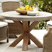 Abbott Concrete Top Round Fixed Dining Table