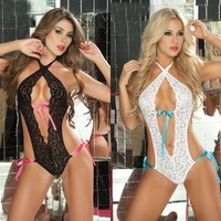 On Sale Hot Deal Cute Ladies Lace Sexy Underwear Set One-piece Exotic Lingerie [6594738051]