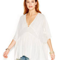 Free People Sheer Embroidered Caftan