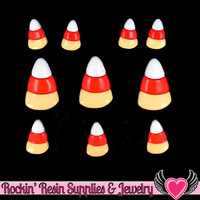Jesse James Buttons 10 pc CANDY CORN Halloween Candy Buttons