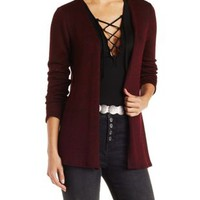 Lightweight Marled Open Front Cardigan