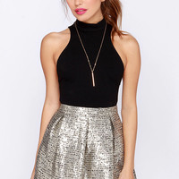 Boucle It On Me Gold Skirt