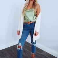 One Look At You Cardigan: Ivory
