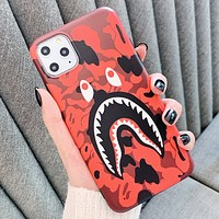 Bape Aape New fashion camouflage eye shark print couple protective case phone case