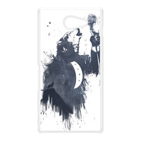 Wolf Song 3 White Hard Plastic Case for Sony M2 by Balazs Solti