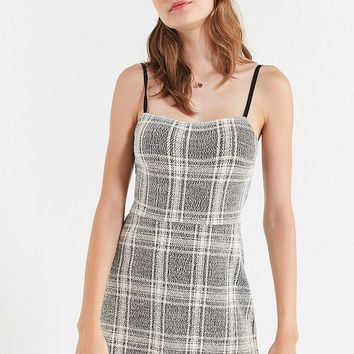 UO Cher Straight-Neck Mini Dress   Urban Outfitters