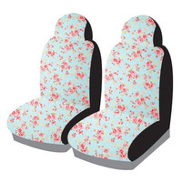 Me-Mo Airbag-Friendly Car Seat Covers: Pale Blue Vintage Rose