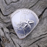Premium Coin Guitar Pick - Handmade with a 2004 Texas State Quarter
