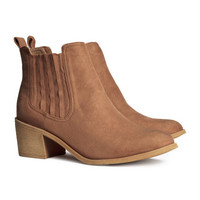 H&M - Ankle Boots - Brown - Ladies