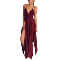 Summer Women Boho Long Evening Party Cocktail Casual Beach Dress Sundress