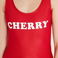 Cherry Graphic Bodysuit | Forever 21 - 2000204408