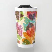 Autumn leaves Travel Mug by Fimbis