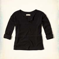 Notch Front Waffle Tee