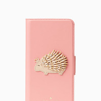 porcupine applique folio iphone 7 plus case