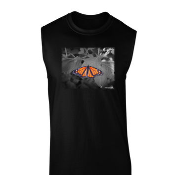 Monarch Butterfly Photo Dark Muscle Shirt