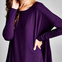 Solid Fall Top - Purple