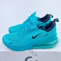 AIR MAX 270 NIKE knitted hollow double mesh back half palm air sneakers shoes