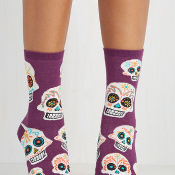 Quirky Get a Head Start Socks by ModCloth