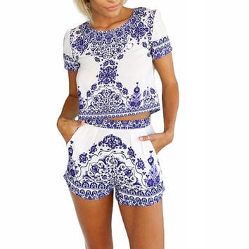 Floral Casual Clubwear Playsuit Bodycon Party Romper Jumpsuits