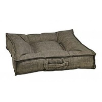 MicroLinen Square Piazza Dog Bed — Driftwood