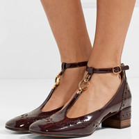 Chloé - Perry patent-leather Mary Jane pumps