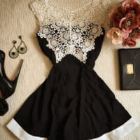 Cute fashion lace vest dress