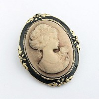 FREE SHIPPING Bronze Lady Reliefs Unique Brooch 11040829 from GowithGalaxy