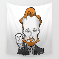 Conan with a Barn Owl Wall Tapestry by BinaryGod.com